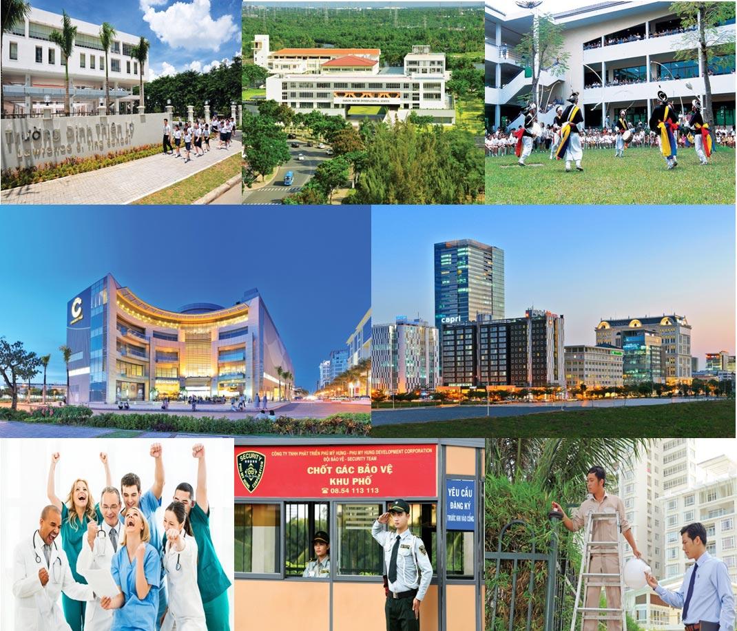 COSMO CITY QUAN 7 Tien ich - Căn Hộ Cosmo City Quận 7